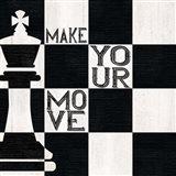 Chessboard Sentiment I-Make your Move Art Print