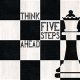 Chessboard Sentiment II-Five Steps Art Print