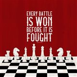 Rather be Playing Chess Red I-Every Battle Art Print