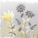 Soft Nature Yellow & Grey I Art Print