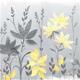 Soft Nature Yellow & Grey II Art Print