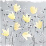 Soft Nature Yellow & Grey III Art Print