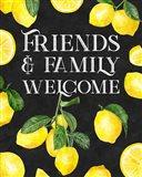 Live with Zest sentiment portrait I-Friends & Family Art Print