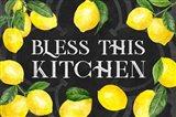 Live with Zest sentiment landscape I-Bless this Kitchen Art Print