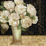 Antique Floral Still Life I Art Print