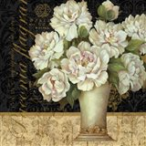 Antique Floral Still Life II Art Print