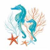 Coral Aqua XII Art Print