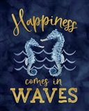 Deep Blue Sea XI on Navy Art Print