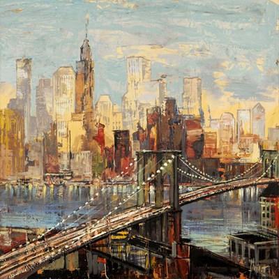 Sera su Manhattan Art Print by Florio