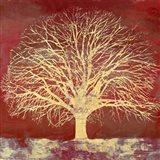 Crimson Oak Art Print