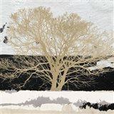 Golden Tree (detail) Art Print