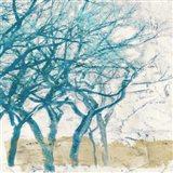 Turquoise Trees I Art Print