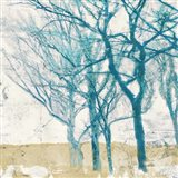 Turquoise Trees II Art Print