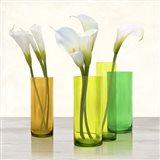 Callas in crystal vases I (detail) Art Print