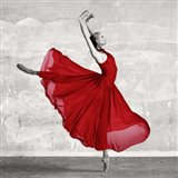 Ballerina in Red (detail) Art Print