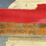 Moon Rising from the Crimson Sky I Art Print