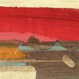 Moon Rising from the Crimson Sky II Art Print