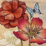 Flowers and Butterflies (detail) Art Print