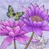 Nympheas and Butterflies (detail) Art Print