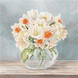 Fleurs et Vases Aquamarine II Art Print