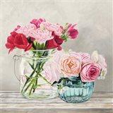 Fleurs et Vases Blanc I Art Print