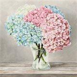 Fleurs et Vases Blanc II Art Print