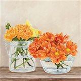 Fleurs et Vases Jaune II Art Print