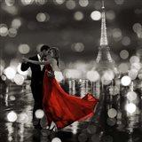 Midnight in Paris (BW) Art Print