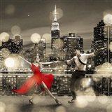 Dancin' in the Moonlight (BW, detail) Art Print