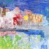 Villaggio sul Lago Art Print