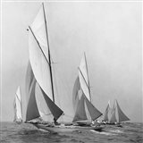 Sailboats Sailing Downwind, 1920 (Detail) Art Print