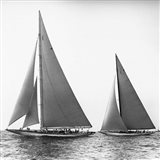 Sailboats in the America's Cup, 1934 (Detail) Art Print