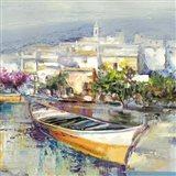 Paese Mediterraneo (detail) Art Print