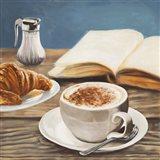 Cappuccino & Book Art Print