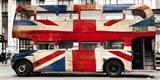 Union Jack Double-Decker Bus, London Art Print