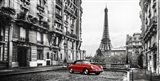 Roadster in Paris (Rouge) Art Print