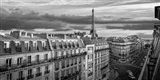 Morning in Paris (BW) Art Print