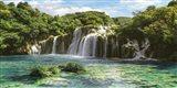 Waterfall in Krka National Park, Croatia Art Print