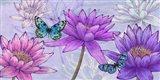 Nympheas and Butterflies Art Print