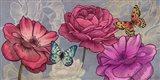 Roses and Butterflies (Ash) Art Print