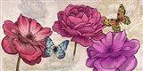 Roses and Butterflies (Neutral) Art Print