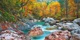 Mountain Brook and Rocks, Carinthia, Austria Art Print