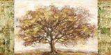 Golden Tree Panel Art Print