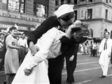 Kissing the War Goodbye in Times Square, 1945 (detail) Art Print