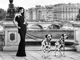 Walking in Paris Art Print