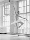 Ballerina Rehearsing Art Print