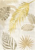 Palm Leaves Gold I Art Print