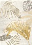 Palm Leaves Gold II Art Print