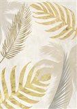 Palm Leaves Gold III Art Print