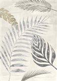 Palm Leaves Silver I Art Print